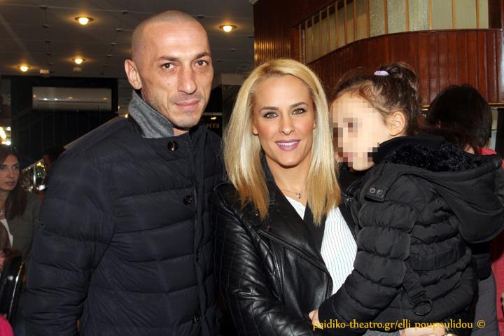 Μπρούνο Τσιρίλο και Έλενα Ασημακοπούλου με την κόρη τους,Μαρία Ροζάρια