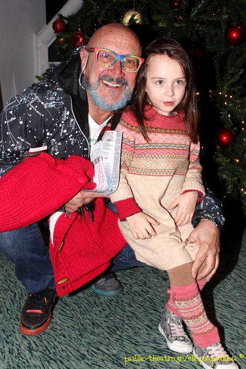 Ο σκηνοθέτης,Δημήτρης Αρβανίτης με την εγγονή του,Άννα