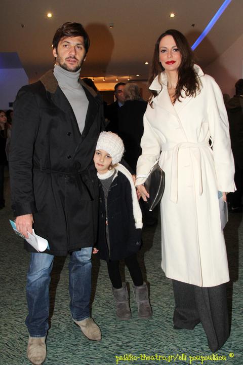 Δημήτρης Μάζης και Μπέτυ Μαγγίρα με την κόρη τους,Ανδριάνα